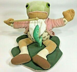 Vintage Eden Beatrix Potter Mr. Jeremy Animated Musical Plush Frog Fishing Pole