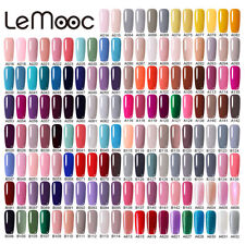 8ml LEMOOC  Glitter Nail Art Gel Polish Soak off UV Gel Color Salon UV LED