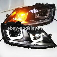 2011 to 2014 year For VW Jetta MK6 LED U Style Angel Eyes Headlights Lamps SY