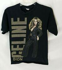 Celine Dion 2009 World Tour Black Concert T-Shirt S