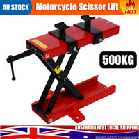 Hydraulic Motorcycle Lifter Motorbike Lift Stand Table Jack Hoist Bike 500KG Red