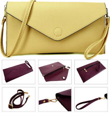 Womens Large Beige Clutch Bag Oversized Envelope Evening Prom Wedding Wristlet