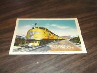 APRIL 1943 UNION PACIFIC CITY OF LOS ANGELES TRAIN #6 RPO USED LINEN POSTCARD