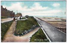 RHYL - Marine Drive - North Wales - Edwardian 1908 used postcard