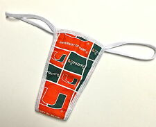 NEW UNIVERSITY OF MIAMI PANTY/THONG SML/MED MORE NCAA/NFL TEAMS IN MY EBAY STORE