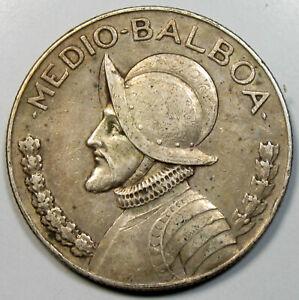 1930 Panama 1/2 Balboa Silver Coin