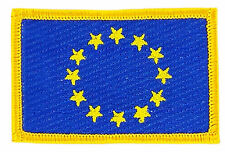 FLAG PATCH PATCHES EUROPE EUROPA UNION EUROPEAN EU UE IRON ON EMBROIDERED SMALL