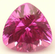 7.5 mm 2.2 cts Trilliant cut pink lab created Sapphire