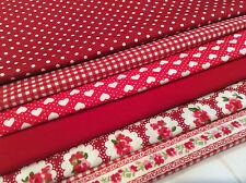 Cotton Fabric Fat Quarters Bundle x 6 Fabrics
