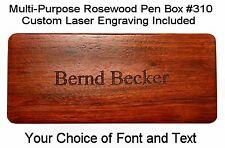 Custom Engraved Multi Purpose Rosewood Pen Box #R310