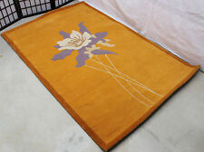 R4834 GORGEOUS FLORAL HAND CRAFTED WOLLEN TIBETAN RUG 4' X 6' MADE IN NEPAL