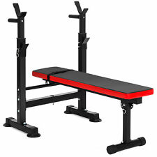 BCP Adjustable Barbell Rack and Weight Bench - Black