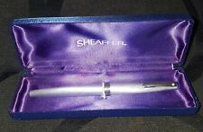 SHEAFFER 620 FLORENTINE BRUSHED STEEL FOUNTAIN PEN.BOXED.GOOD CONDITION.1990s