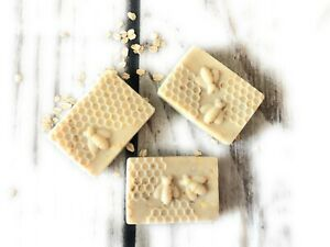 Oatmeal Honey Goat Milk Soap Bars - For Eczema, Psoriasis & Dry Sensitive Skin