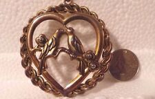 """Necklace, Love Birds, Heart Shaped, Two-Tone Gold Tone, 24"""" Chain"""