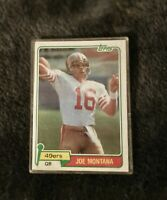 Topps 1981 Joe Montana San Francisco 49ers RC #216 Football Card