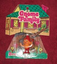 The Gnome Family Empire Toys on Card RARE VTG 1978 PVC figure Hong Kong Smurf