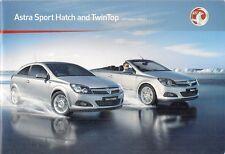 Vauxhall Astra Sport Hatch & TwinTop 2010-11 UK Market Sales Brochure