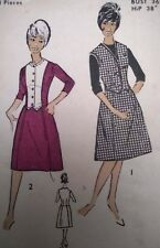 "Vintage Maudella Waistcoat Skirt Printed Sewing Pattern #5425 Bust 36"" 92cms"
