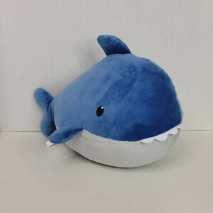 """Shark Plush Carters  Squishy Stuffed Soft Toy Lovey White Blue 2019 Baby16"""" Long"""