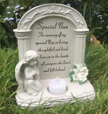 Special Nan Graveside Memorial Plaque Praying Angel Tea Light DF15865C