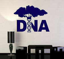 Vinyl Wall Decal DNA Tree Genetics Biology Molecule Science Stickers (ig4646)