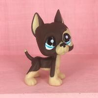 Littlest Pet Shop LPS#817 Standing Figure Kids Toys Puppy Brown Great Dane Dog