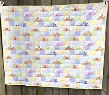 Disney Pooh Crib Comforter Quilt Baby Piglet Square Patchwork Handmade 40 X 32 D