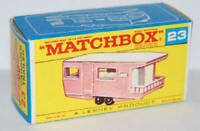 Matchbox Lesney No 23 Trailer Caravan Repro Empty Box style E Box