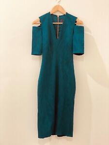 Ginger and Smart Bodycon Cocktail Dress Emerald Green Size 8