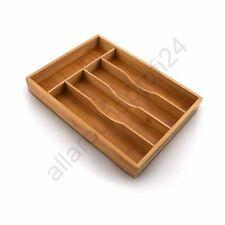 Besteckkasten Bambus NEU Besteckeinsatz Holz Schublade Besteck Schubladeneinsatz