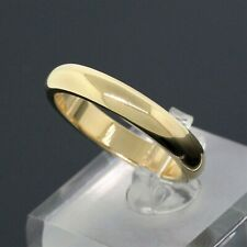Cartier 18K Yellow Gold 4mm Wide Wedding Band Ring US Size 8.5 Euro Size 58