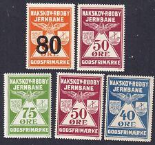 Denmark Local Railway Parcel Stamps Nakskov RØDby