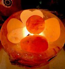 """Himalayan Salt Lamp Bowl 8 """" & Massage Ball"""