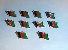 Wholesale Lot of 10 Afghanistan Flag Lapel Pin, Brass Finish, Brand New