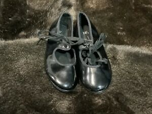 Freestyle  Girls' Tap Dance Shoes Black Patent Size 10 1/2