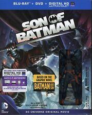 SON OF BATMAN Blu-ray/DvD/Ultraviolet + Figurine Best Buy Exclusive NEW SEALED