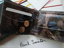 Paul Smith Bifold De Cuero Moneda Monedero Marshall Auriculares BNIB BNWT £ 185