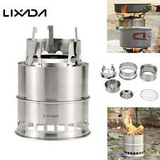 Outdoor Portable Wood Stove Backpacking Survival Wood Burning Camping Stove O8P4