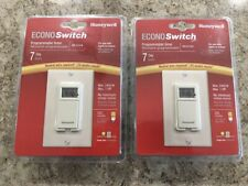 (2)-Honeywell econoswitch RPLS730B 7-day programmable timers New Sealed