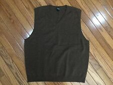 Saks Fifth Avenue Brown cashmere V-neck Sweater Vest Men's Size L