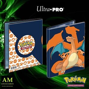 Ultra Pro - Pokemon 4-POCKET Portfolio Charizard - Nuovo / Originale Tauschalbum