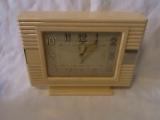 German Art Deco Bauhaus Bakelite Desk Clock #<2