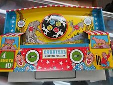 CARNIVAL SHOOTING GALLERY TARGET TIN WIND UP MECHANICAL VINTAGE TOY