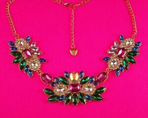 Betsey Johnson Amazing Multi-color Rhinestone choker necklace