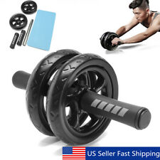Abdominal Exercise Roller Body Fitness Strength Dual Wheels Gym