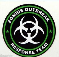 ZOMBIE OUTBREAK RESPONSE TEAM BLACK BUMPER CAR BOX STICKER DECAL MADE IN USA 3""