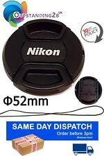 52 mm Front Lens Cap Center Snap on for Nikon D3200 D7000 D5200