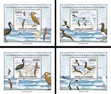 More details for comoros comores 2009 mnh seabirds of indian ocean 4x 1v s/s egret birds stamps