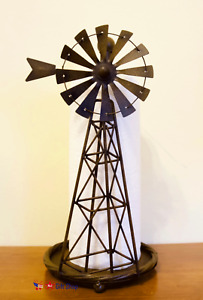 Windmill Metal Paper Towel Holder Rustic Country Farmhouse Style